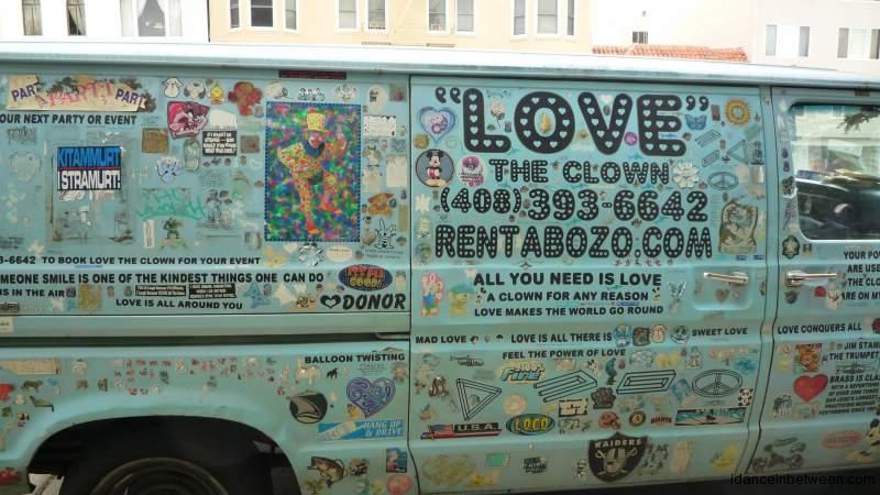 LOVE clown van, San Francisco