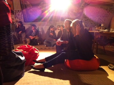 la-boheme-2: audience on beanbag