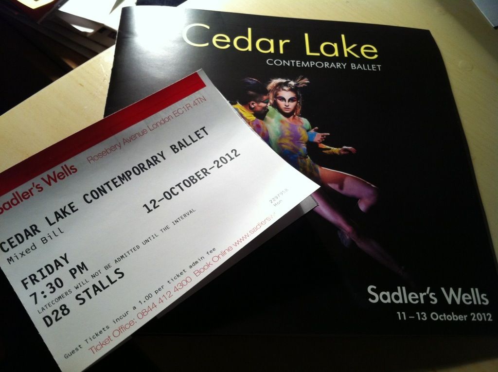 Cedar Lake Programme and Ticket