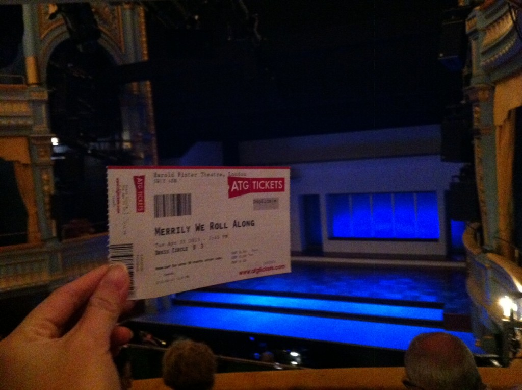 Ticket and opening scene of the musical